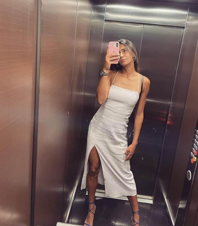 olga danilovic u beloj haljini