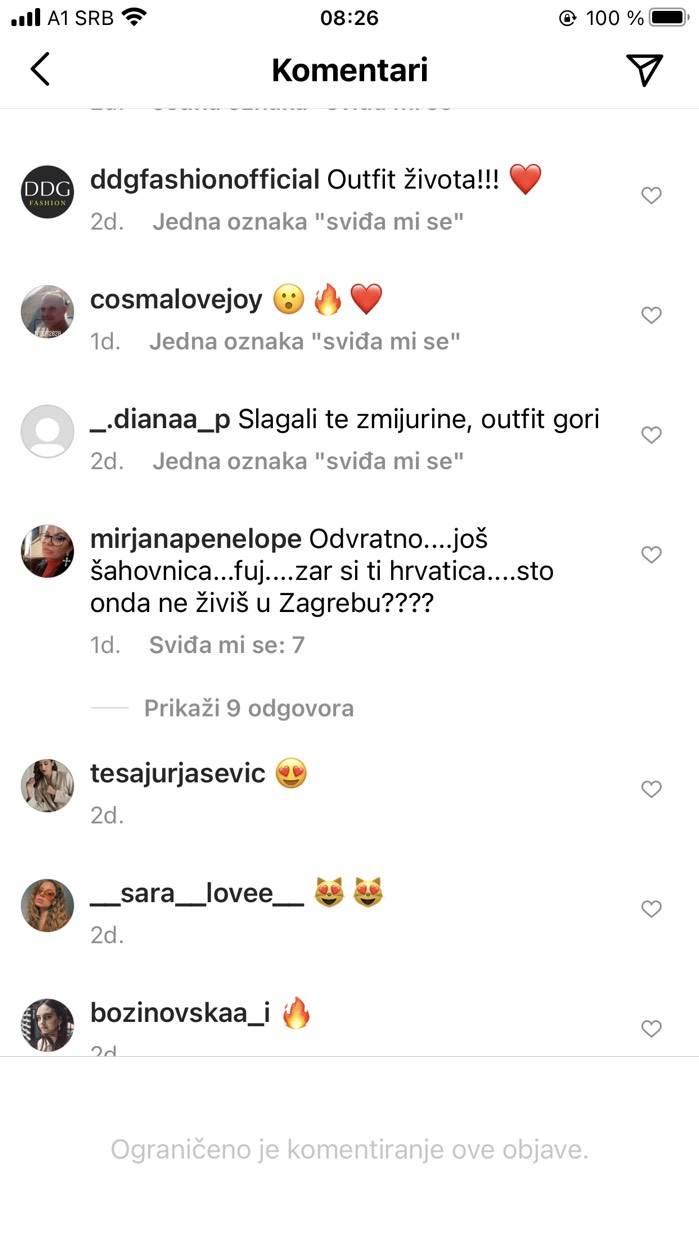dunja jovanic komentari na pantalone