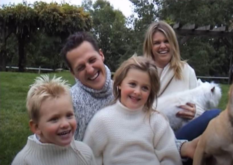 mihael sumaher sa porodicom
